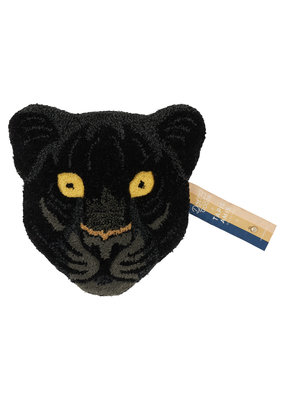 Doing Goods Black Panter Head Rug