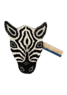 Doing Goods Zebra Head Rug