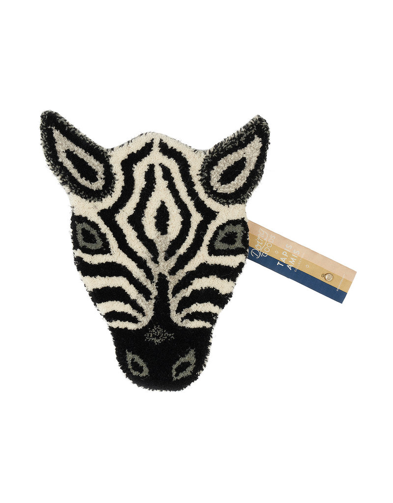 Doing Goods Zebra Head Rug
