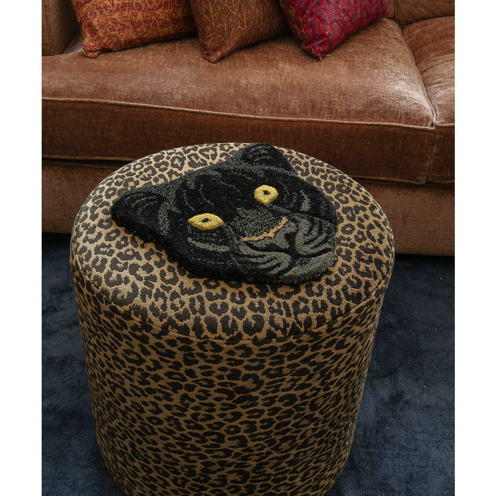 Black Panter Head Rug