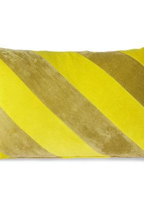 HKLiving Striped Velvet Cushion
