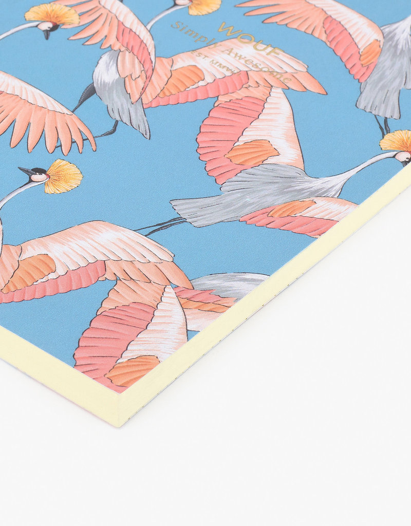 WOUF Notebook A6 Imperial Heron