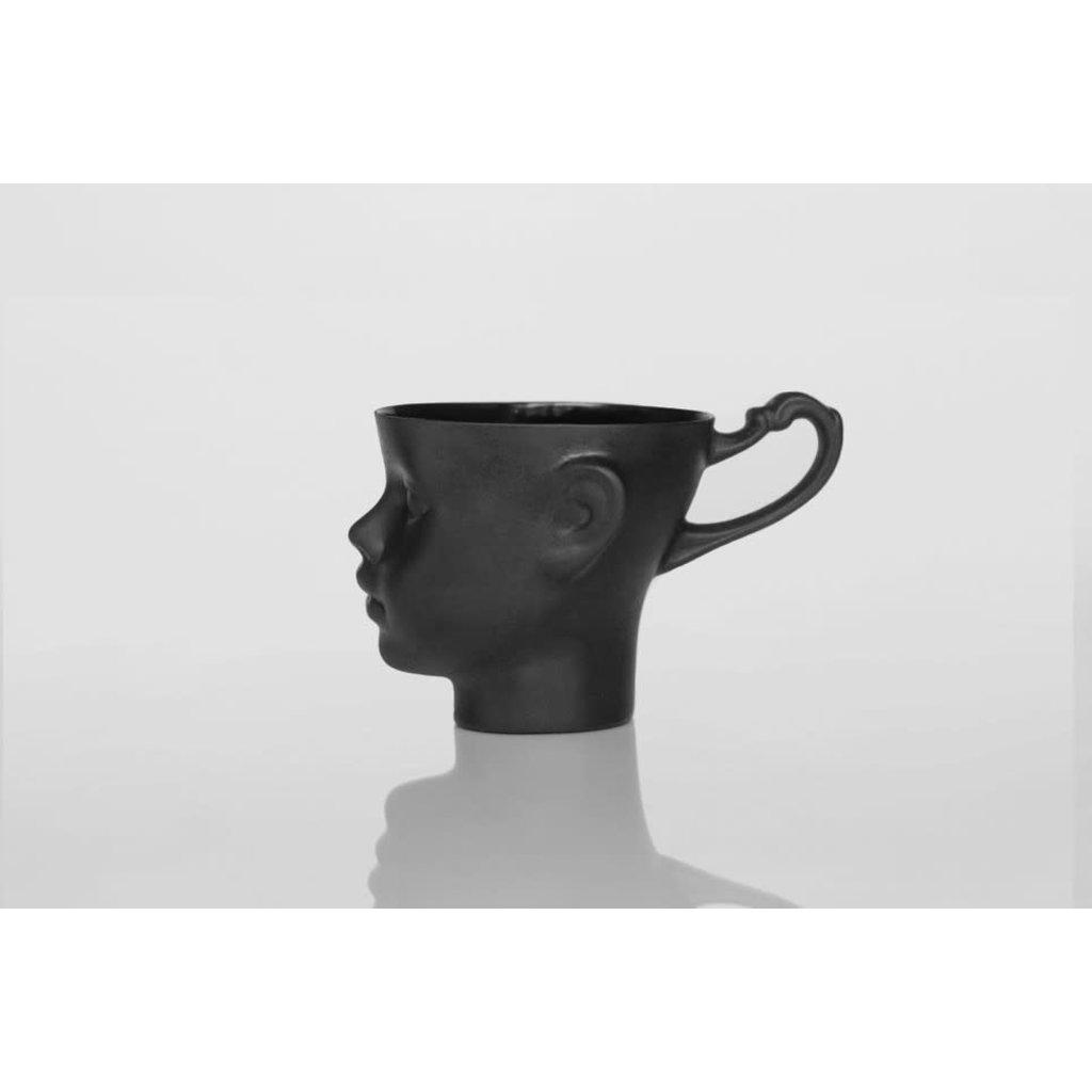 Doll Head Mug Black