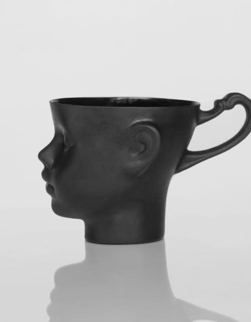 Doll Head Mug Black