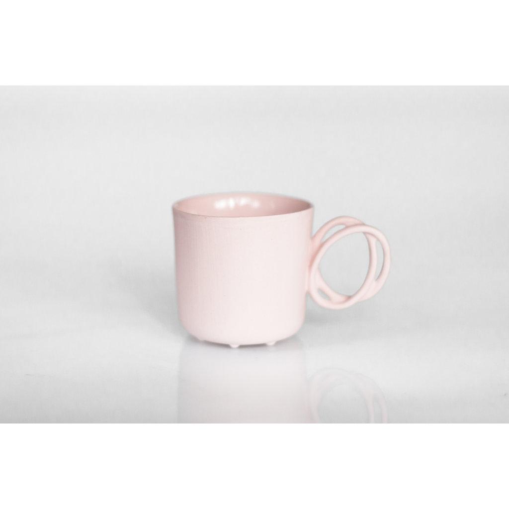 Twisted Handle Mug Pink