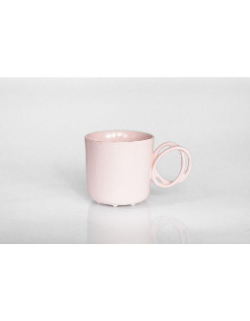 ENDE Twisted Handle Mug Pink