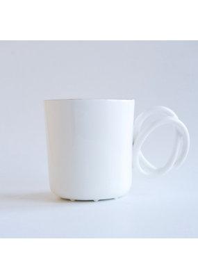ENDE Twisted Handle Mug White