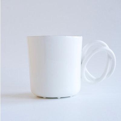 Twisted Handle Mug White
