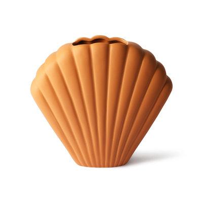 Ceramic Shell Vase Terra