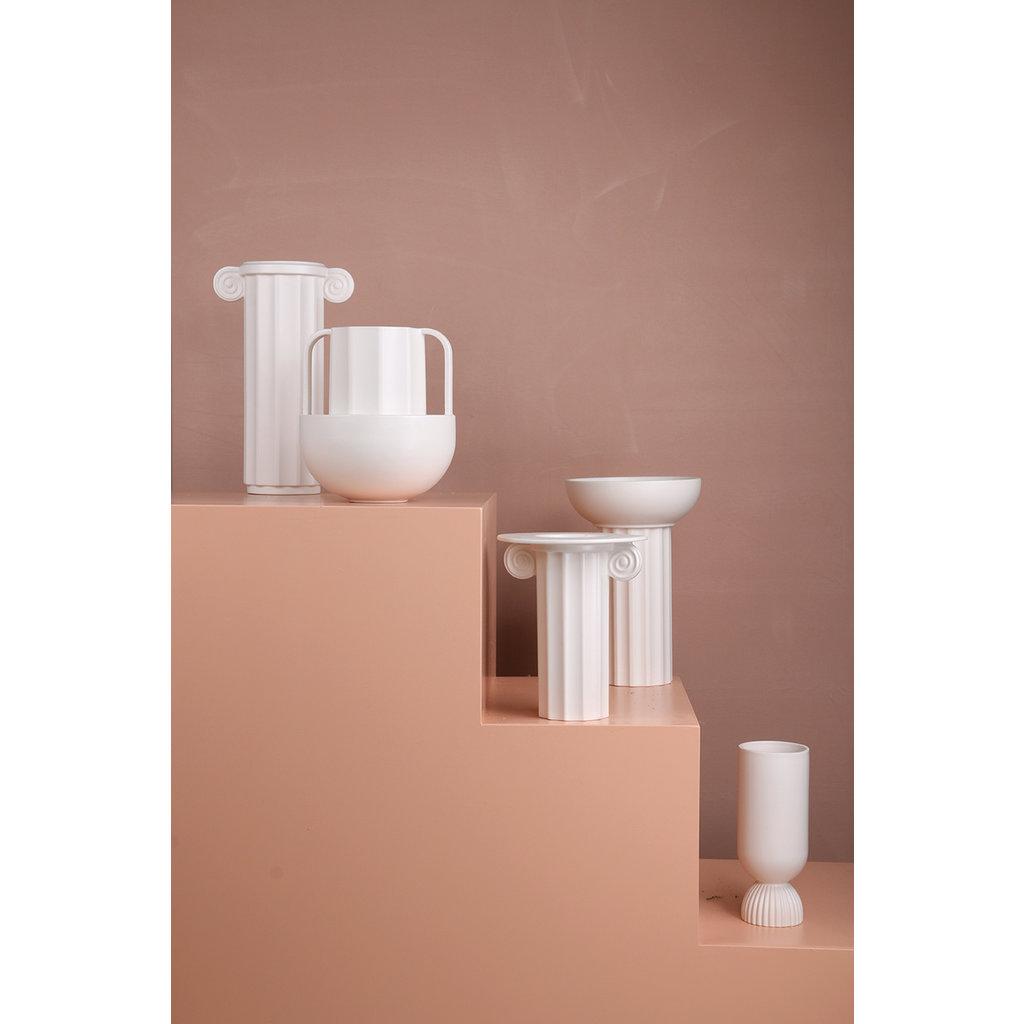 White Ceramic Vase Greek D