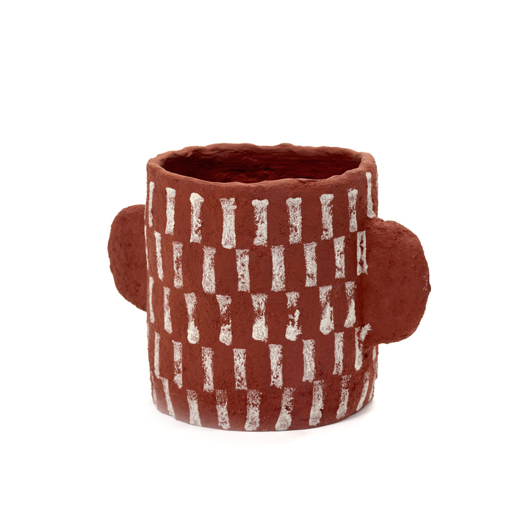 Plant Pot Earth Red B