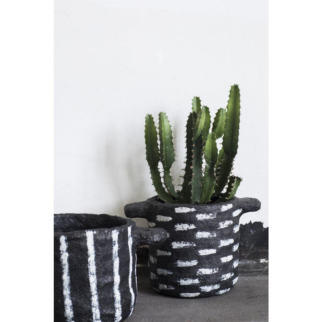 Plant Pot Earth Black B