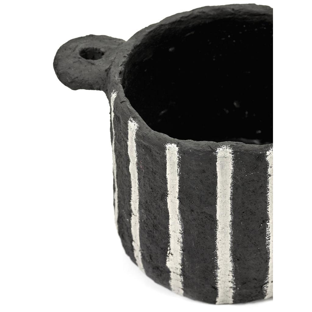 Pot Marie Papier Maché Black