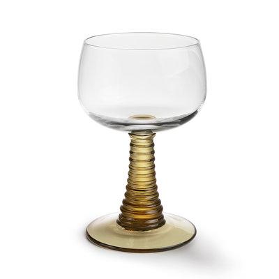 Swirl Wine Glass Green