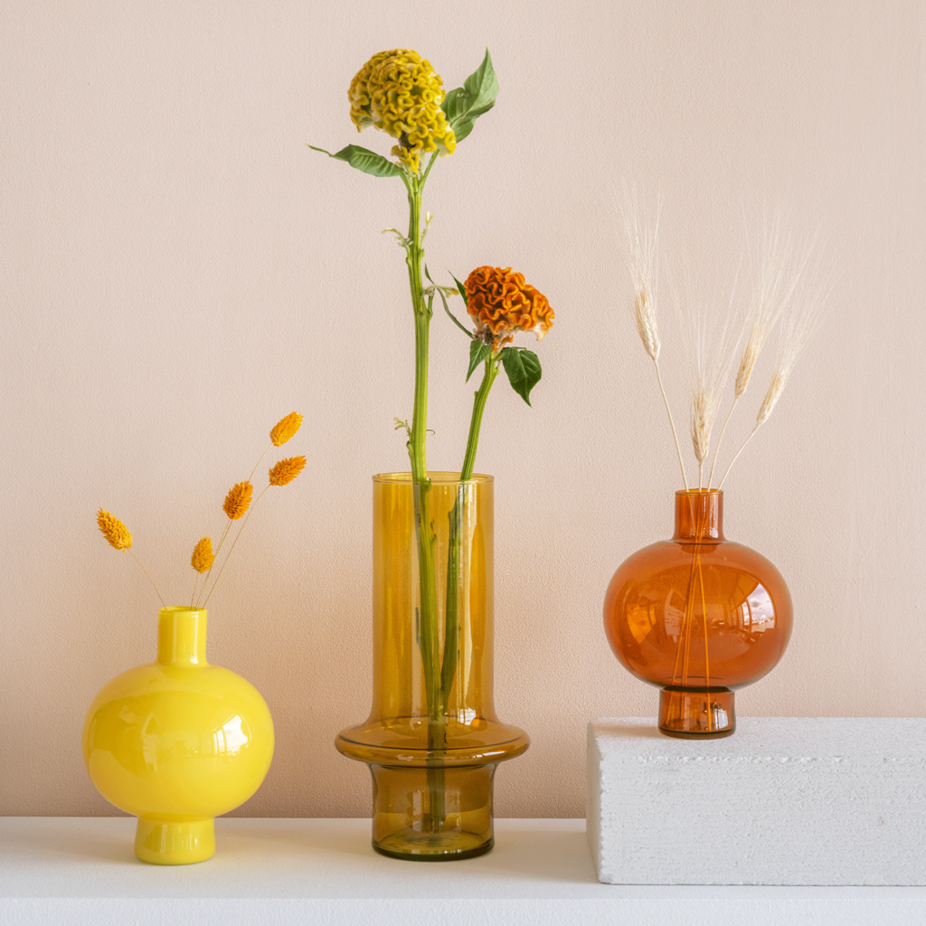 Vase Yolk Yellow
