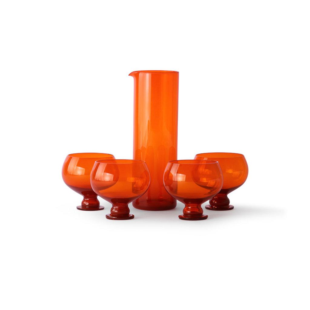 Funky Orange Glassware Set