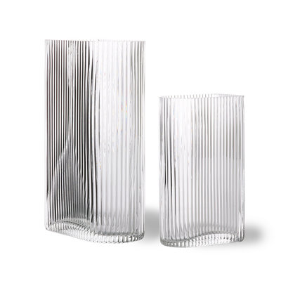 Clear Ribbed Vases