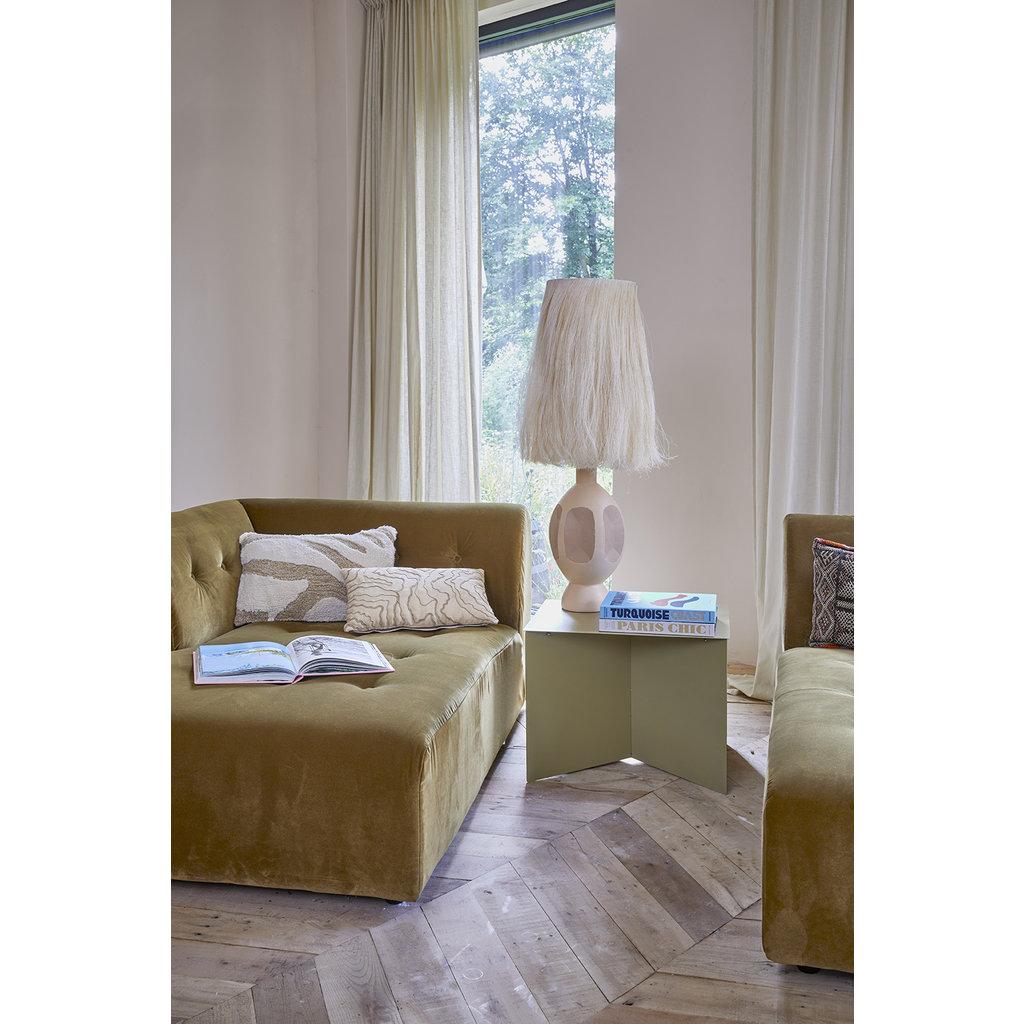 Fluffy Cushion White/Beige