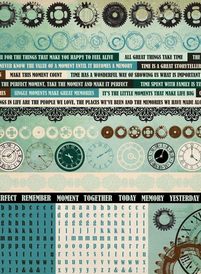Kaisercraft stickers - Time machine