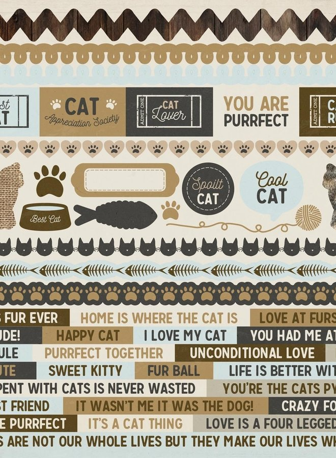 Kaisercraft stickers - Pawfect cat