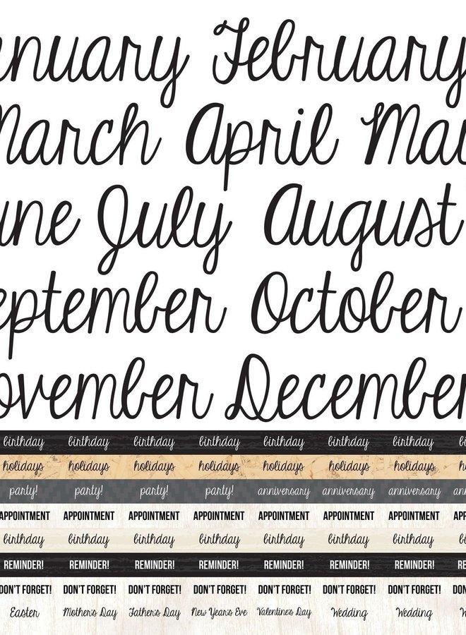 Kaisercraft stickers - Month en Agenda