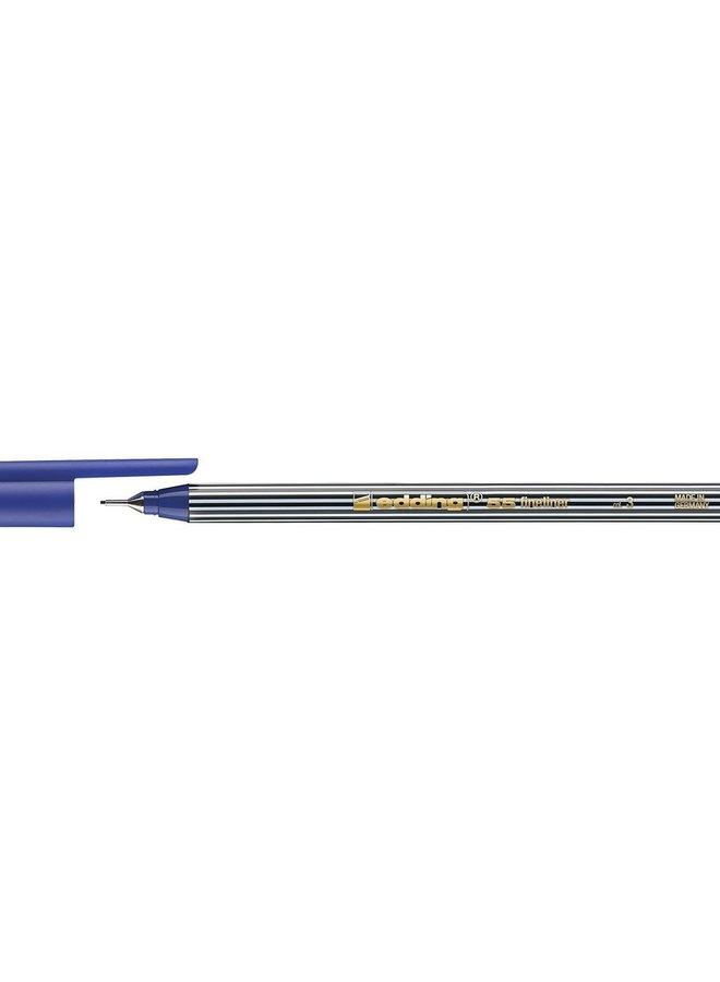 Edding 55 fineliner 0,3 mm rond blauw (003)