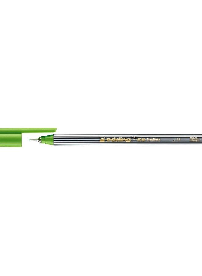 Edding 55 fineliner 0,3 mm rond licht groen (011)