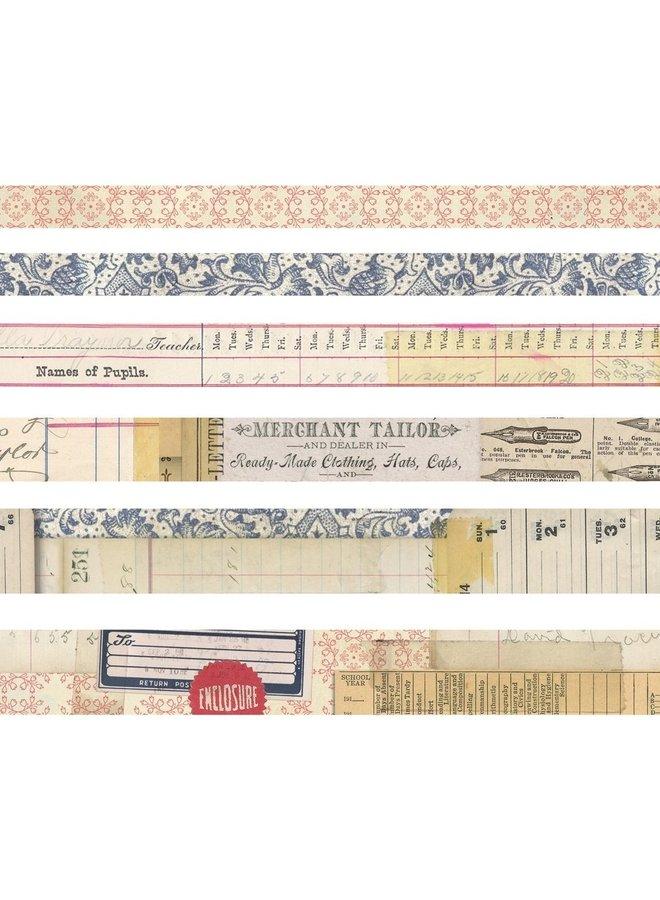 Tim Holtz design tape Merchant - 6 rollen