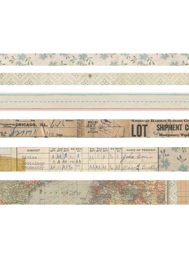 Tim Holtz design tape Elementary - 6 rollen