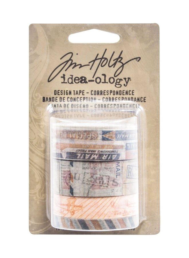 Tim Holtz design tape Correspondence - 4 rollen
