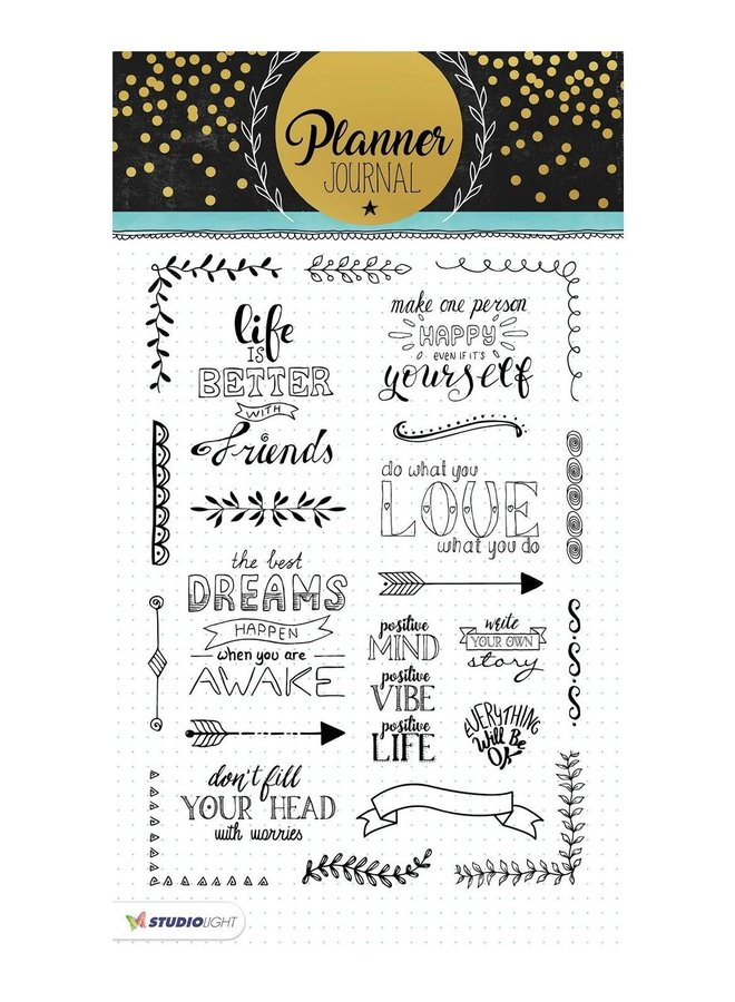 Studio Light - Clear stamp A5 Planner Journal 03