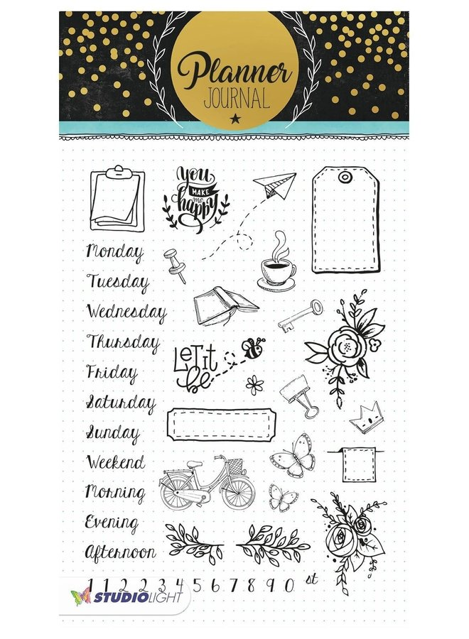 Studio Light - Clear stamp A5 Planner Journal 05