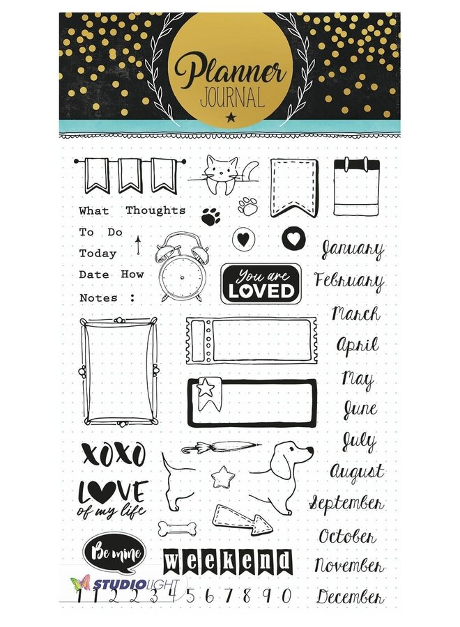 Studio Light - Clear stamp A5 Planner Journal 06