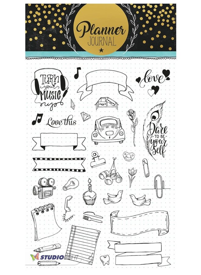 Studio Light - Clear stamp A5 Planner Journal 08