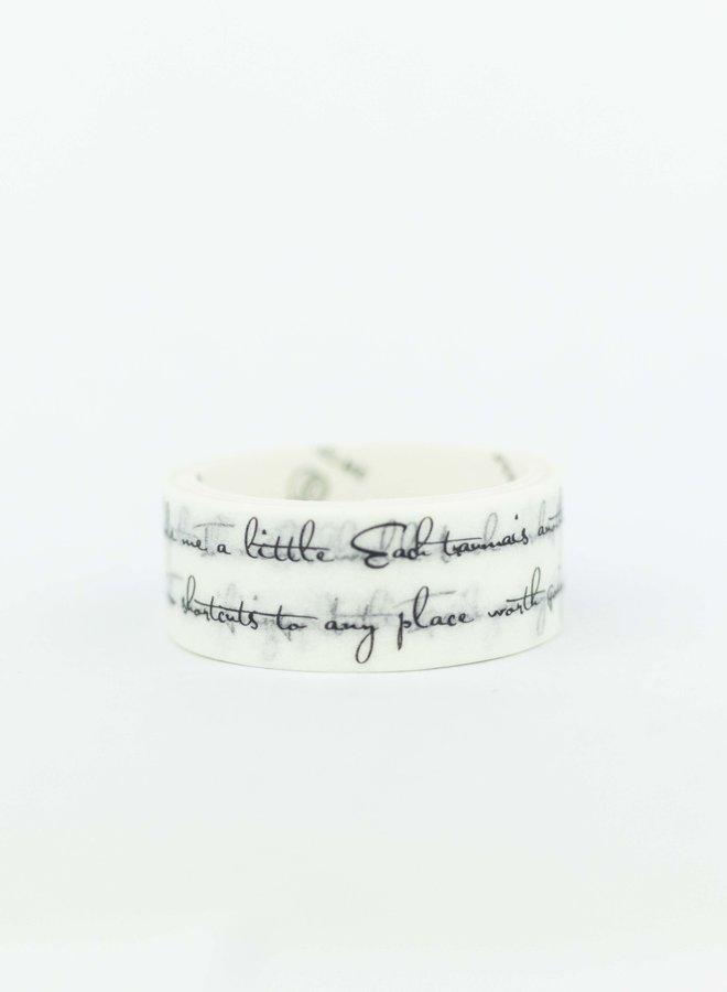 Washi tape | Kalligrafie tekst