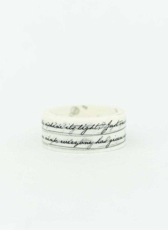 Washi tape I Zwarte Kalligrafie tekst