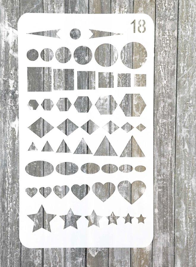 Bullet journal Stencil 18