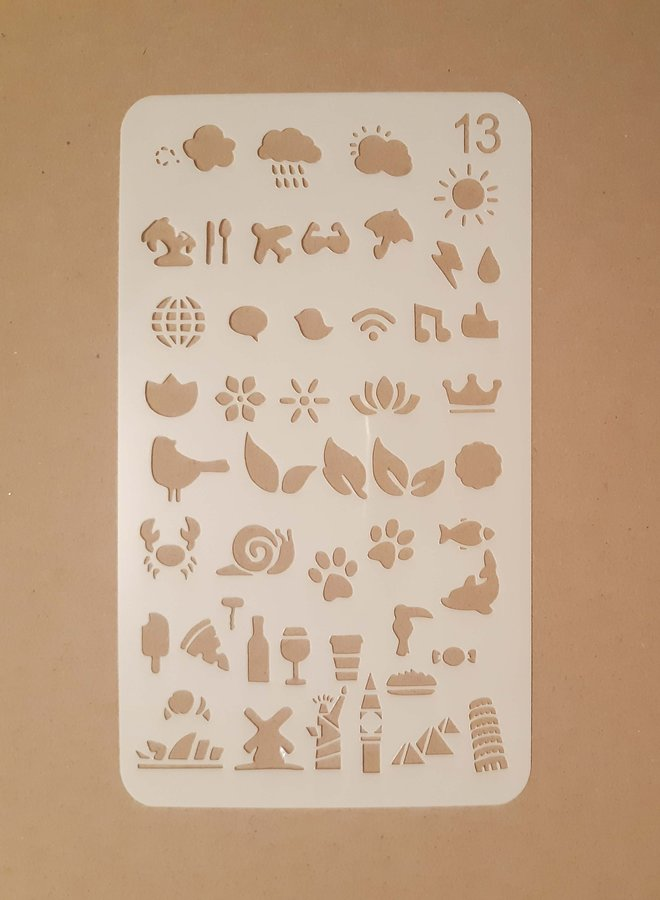 Bullet journal Stencil 13
