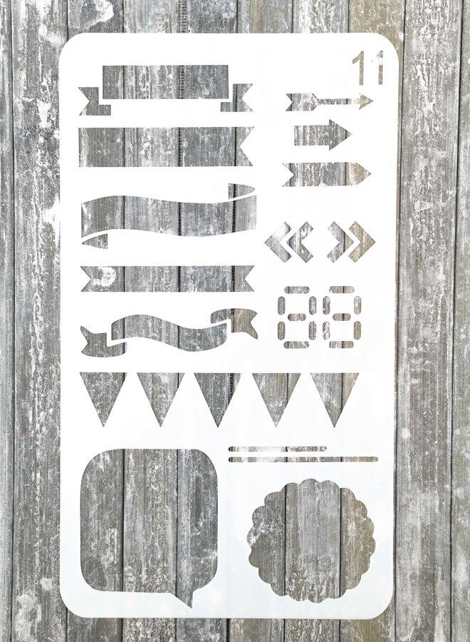 Bullet journal Stencil 11