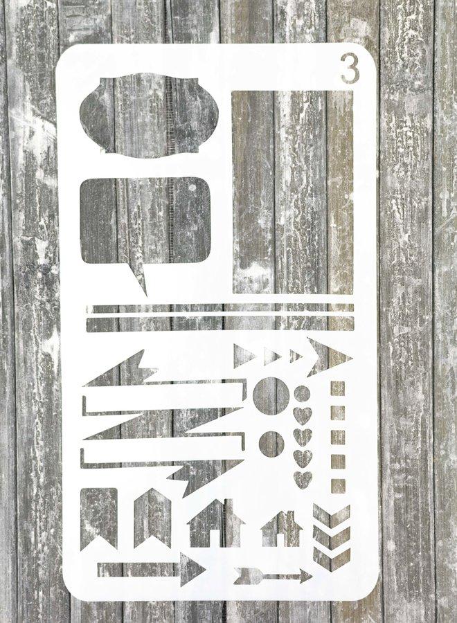 Bullet journal Stencil 3