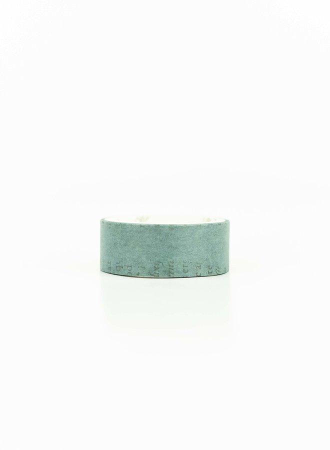 Washi tape   Vintage turquoise tekst