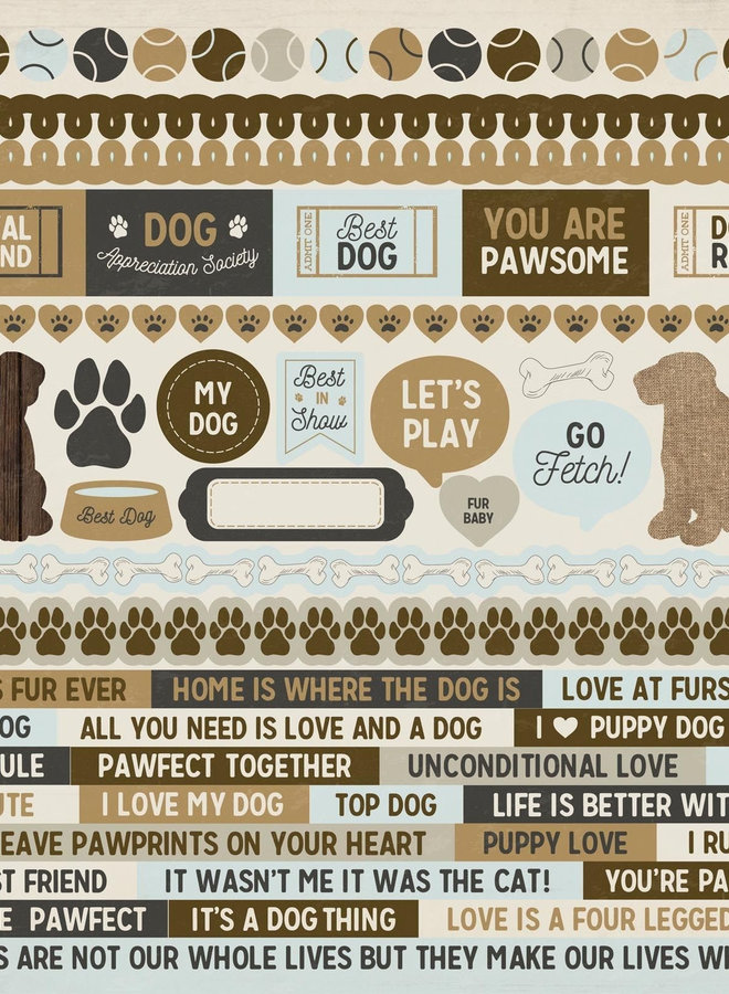 Kaisercraft stickers - Pawfect dog