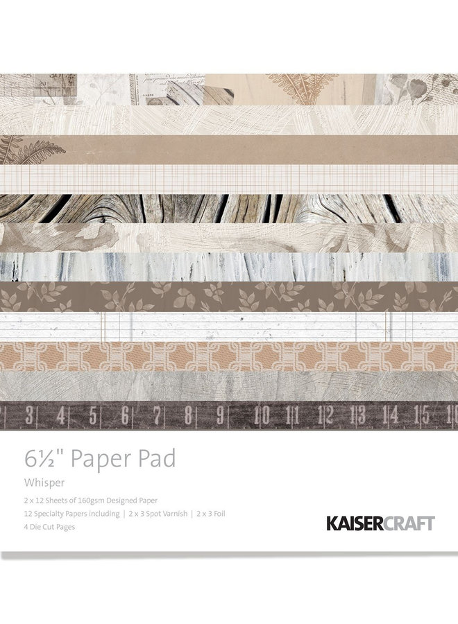 Kaisercraft paper pad - Whisper