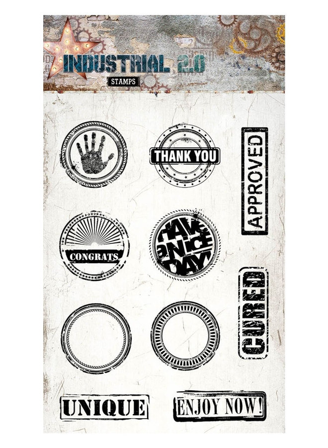 Studio Light - Clear stamp A6 Industrial 2.0 255