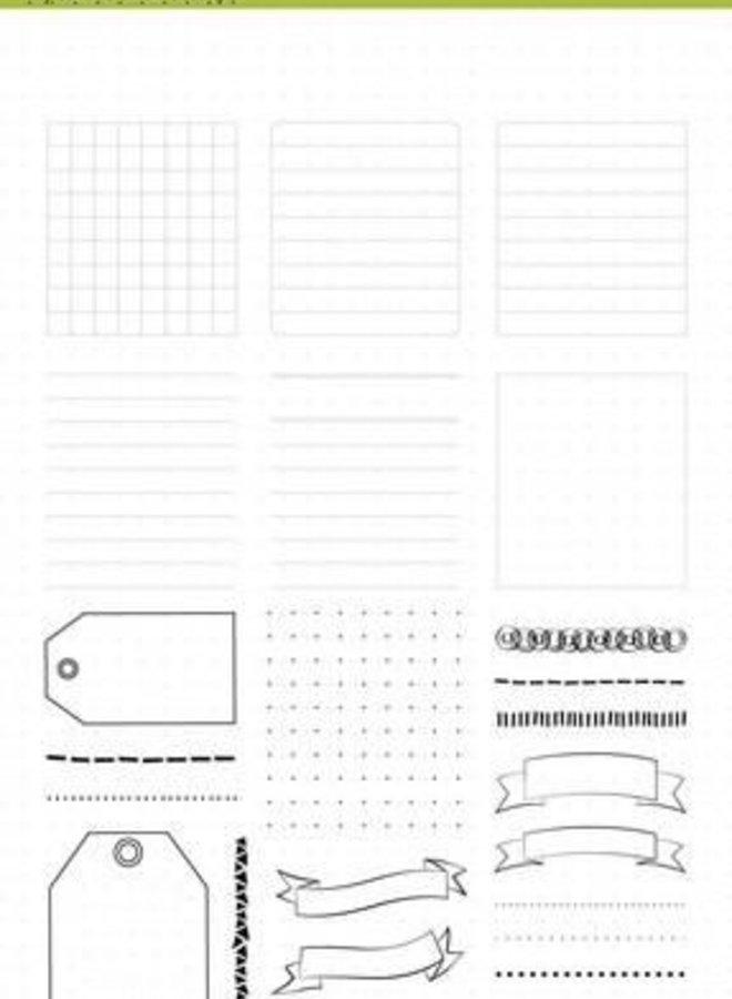 CraftEmotions Clear stamps - frames en randen