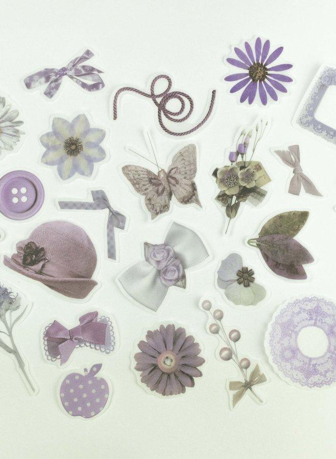 Vintage paars stickers