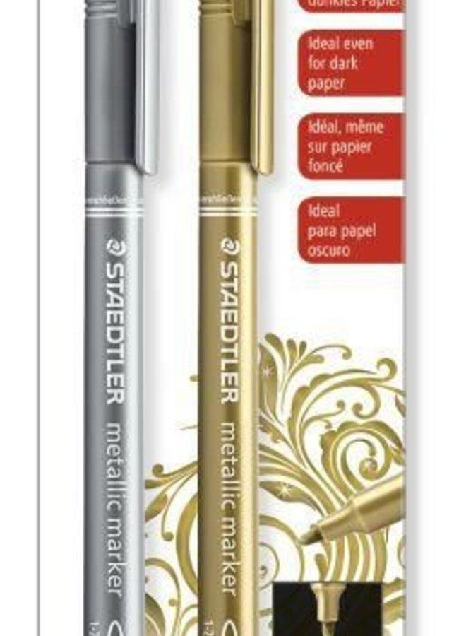 Staedtler metallic markers Goud & Zilver (2 stuks)