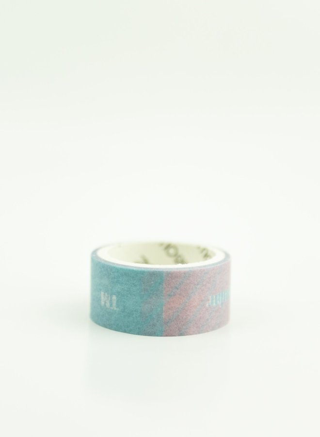 Washi tape l Tekst blauw roze