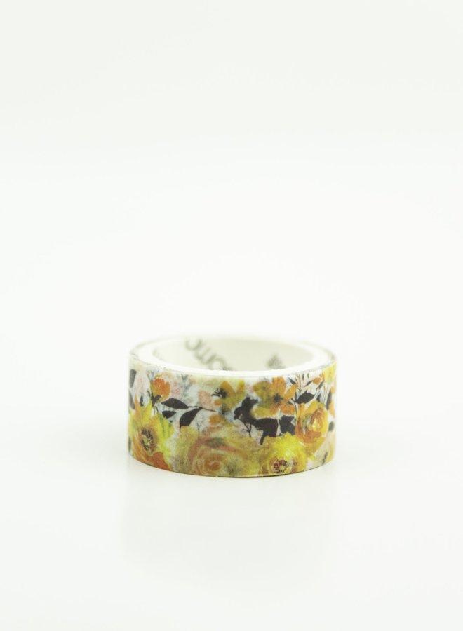 Washi tape l Gele rozen