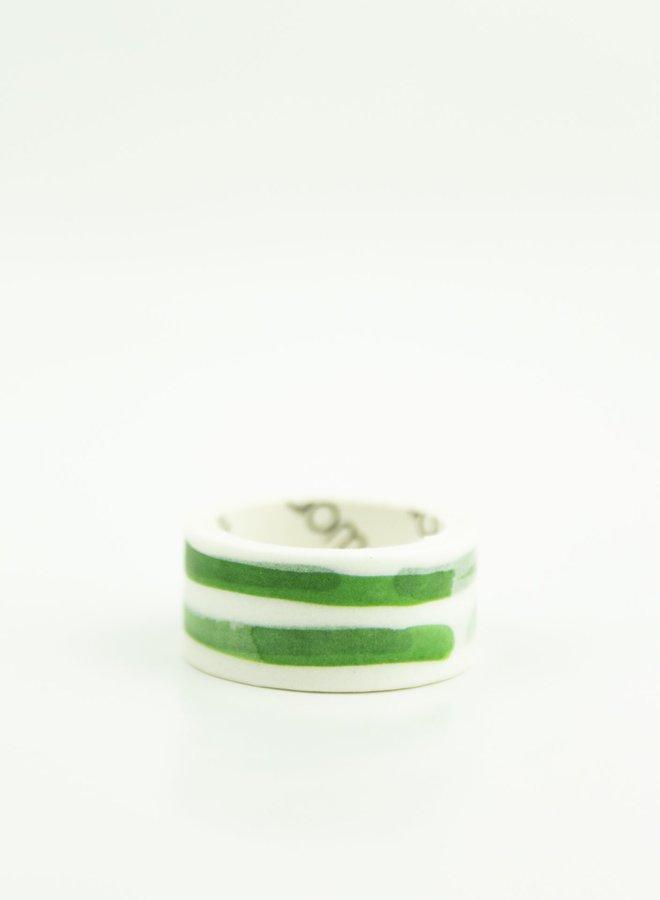 Washi tape l Horizontale groene strepen